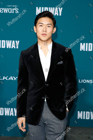 Stock Image of Kenny Leu poses upon arriving at the 'Midway' movie premiere at the Regency Village Theatre in Westwood, Los Angeles, California, USA, 05 November 2019. The movie is to be released in US theaters on 08 November 2019.