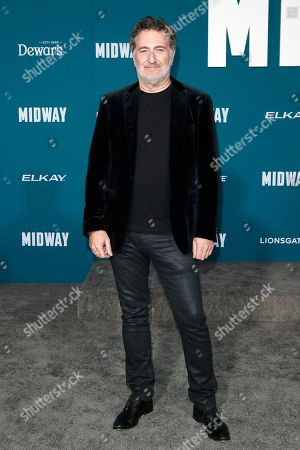 Austrian film composer Harald Kloser poses upon arriving at the 'Midway' movie premiere at the Regency Village Theatre in Westwood, Los Angeles, California, USA, 05 November 2019. The movie is to be released in US theaters on 08 November 2019.