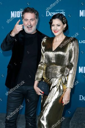 Austrian film composer Harald Kloser (L) and his wife, Colombian singer Ana Maria Lombo (R), pose upon arriving at the 'Midway' movie premiere at the Regency Village Theatre in Westwood, Los Angeles, California, USA, 05 November 2019. The movie is to be released in US theaters on 08 November 2019.