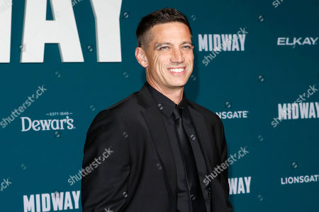 Stock Photo of James Carpinello poses upon arriving at the 'Midway' movie premiere at the Regency Village Theatre in Westwood, Los Angeles, California, USA, 05 November 2019. The movie is to be released in US theaters on 08 November 2019.