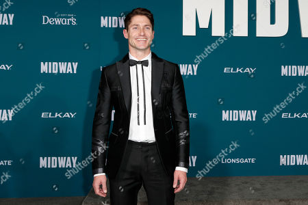 Matthew MacCaull poses upon arriving at the 'Midway' movie premiere at the Regency Village Theatre in Westwood, Los Angeles, California, USA, 05 November 2019. The movie is to be released in US theaters on 08 November 2019.