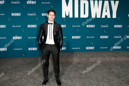 Stock Picture of Matthew MacCaull poses upon arriving at the 'Midway' movie premiere at the Regency Village Theatre in Westwood, Los Angeles, California, USA, 05 November 2019. The movie is to be released in US theaters on 08 November 2019.