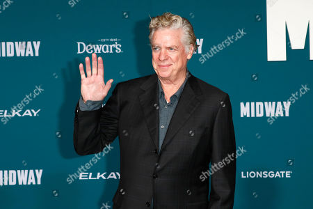 Stock Image of Christopher McDonald poses upon arriving at the 'Midway' movie premiere at the Regency Village Theatre in Westwood, Los Angeles, California, USA, 05 November 2019. The movie is to be released in US theaters on 08 November 2019.