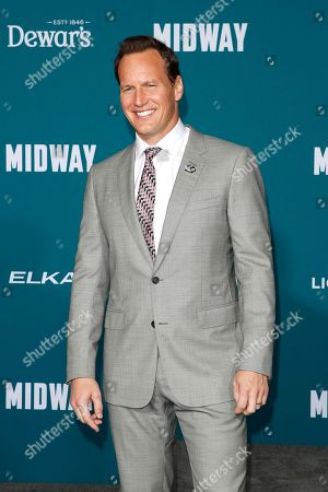Patrick Wilson poses upon arriving at the 'Midway' movie premiere at the Regency Village Theatre in Westwood, Los Angeles, California, USA, 05 November 2019. The movie is to be released in US theaters on 08 November 2019.