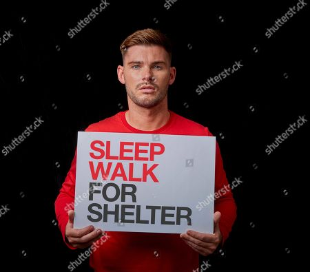 Stock Picture of Kieron Richardson joins celebrities to encourage the UK to sign up for Sleep Walk for Shelter, a 10k walk happening across London and Manchester this December to fight homelessness.