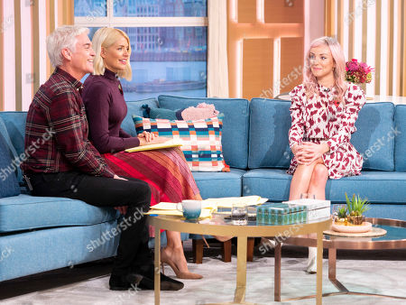 Phillip Schofield and Holly Willoughby with Helen George