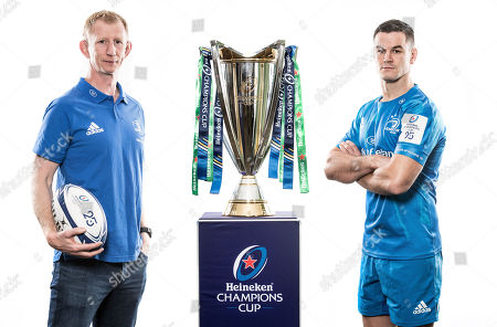 Leinster head coach Leo Cullen and Johnny Sexton