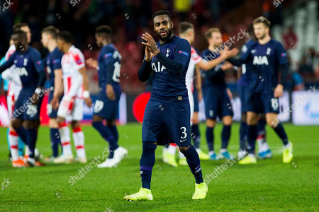 Dany Rose of Tottenham applauds to the fans
