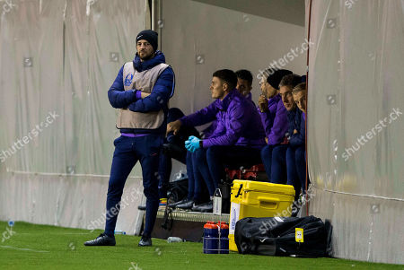 Head Coach John McDermott of Tottenham Hotspurs FC watches his players on the field