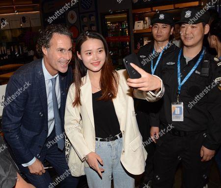Fabio Galante of Inter Milan meets fans in Shanghai