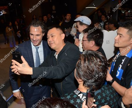 Stock Photo of Fabio Galante of Inter Milan meets fans in Shanghai