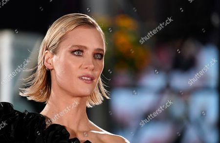 Mackenzie Davis poses at the Japanese premiere of 'Terminator: Dark Fate' in Tokyo, Japan, 06 November 2019. The movie will open in theaters across Japan on 08 November 2019.