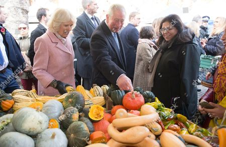 Prince Charles and Camilla Duchess of Cornwall visiting Swiss Cottage Farmers Market On arrival at the Farmers' Market, Their Royal Highnesses will watch a performance by a band from Camden-based Young Music Makers, before visiting stalls and meeting stallholders, including several who have sold at the market since its first year in 1999. During the visit, a 'flash mob' performance of Oliver! by the Royal Central School of Speech & Drama will take place around Their Royal Highnesses.