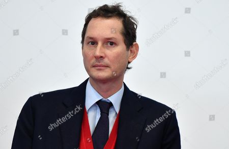 Ferrari President John Elkann attends the inauguration ceremony of a school named after FCA former CEO Sergio Marchionne, in Amatrice, near Rieti, central Italy, 06 November 2019. Italian-Canadian businessman Sergio Marchionne, former CEO of Fiat Chrysler Automobiles (FCA), died on 25 July 2018 at the age of 66.