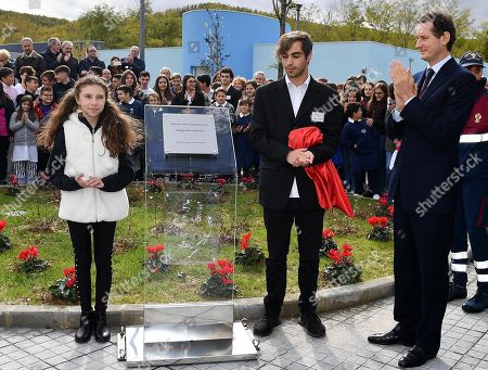Editorial photo of School named after FCA former CEO Sergio Marchionne, Amatrice, Italy - 06 Nov 2019