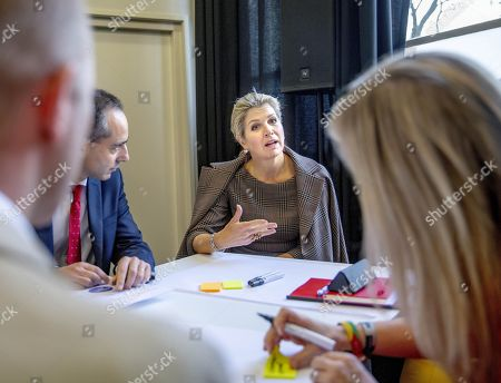 Queen Maxima during the 15th conference of the European Venture Philanthropy Association (EVPA) at the Fokker Terminal in The Hague