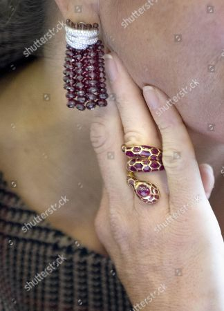 Queen Maxima, ring and earring detail