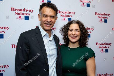 Brian Stokes Mitchell and Sarah Bockel