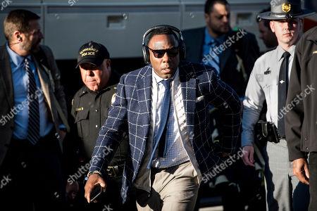 Vanderbilt head coach Derek Mason arrives at Williams Brice Stadium before an NCAA college football game against South Carolina, in Columbia, S.C