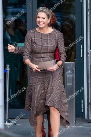 Stock Photo of Queen Maxima during a visit to a SchuldenlabNL working conference in Utrecht, the Netherlands