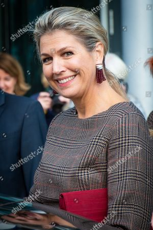Queen Maxima during a visit to a SchuldenlabNL working conference in Utrecht, the Netherlands
