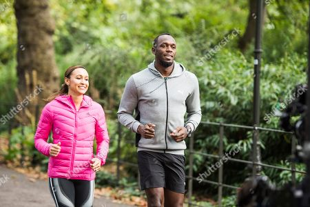 Stock Picture of Dame Jessica Ennis, Usain Bolt