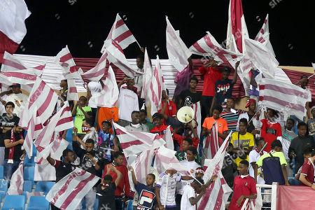 AL-Faisaly fans attend the Saudi Professional League soccer match between Al- Nassr and AL-Faisaly at Prince Faisal Bin Fahd Stadium, Al-Riyadh, Saudi Arabia, 06 November 2019.