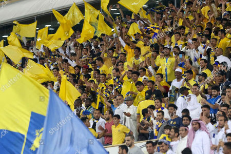 Al-Nassr fans attend the Saudi Professional League soccer match between Al-Nassr and AL-Faisaly at Prince Faisal Bin Fahd Stadium, Al-Riyadh, Saudi Arabia, 06 November 2019.