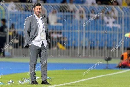 Al-Nassr Head Coach Rui Vitoria reacts during the Saudi Professional League soccer match between Al-Nassr and AL-Faisaly at Prince Faisal Bin Fahd Stadium, Al-Riyadh, Saudi Arabia, 06 November 2019.