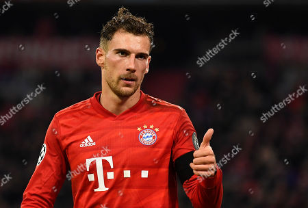 Bayern's Leon Goretzka reacts during the UEFA Champions League group B soccer match between Bayern Munich and Olympiacos Pira?eus at the Allianz Arena in Munich, Germany, 06 November 2019.