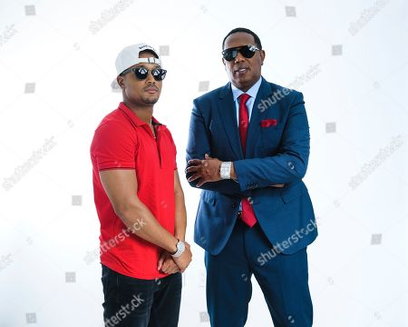Percy Romeo Miller Jnr, left, and Master P pose for a portrait at the Associated Press on in New York, NY