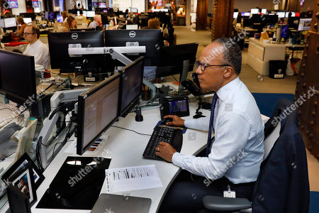 NBC Nightly News and Dateline anchor Lester Holt is photographed at his newsroom desk, at NBC headquarters, in New York