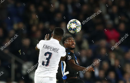 Editorial image of PSG vs FC Brugge, Paris, France - 06 Nov 2019