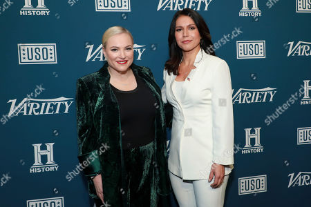 """Meghan McCain and Tulis Gabbard attend Variety's third annual """"Salute to Service"""" celebration at Cipriani 25 Broadway, in New York"""