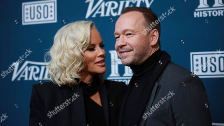 "Jenny McMarthy and Donnie Wahlberg attend Variety's third annual ""Salute to Service"" celebration at Cipriani 25 Broadway, in New York"