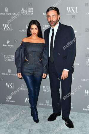 Kim Kardashian West and Riccardo Tisci