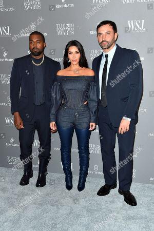 Kanye West, Kim Kardashian West and Riccardo Tisci