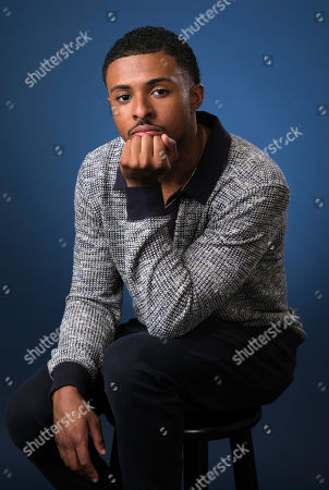 """Diggy Simmons, a cast member in the Freeform series """"Grown-ish,"""" poses for a portrait, in Burbank, Calif"""