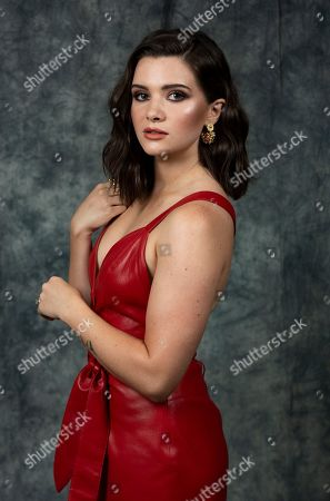 """This photo shows actress Katie Stevens posing at a portrait session to promote Freeform's """"The Bold Type"""" show, in Burbank, Calif"""