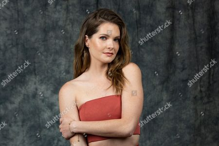 """This photo shows actress Meghann Fahy posing at a portrait session to promote Freeform's """"The Bold Type"""" show, in Burbank, Calif"""