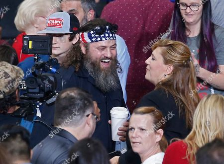 Willie Robertson (R) an American TV personality and known for his role in television show Duck Dynasty in attendance for the United States President Donald J. Trump Keep America Great Rally inside the Monroe Civic Center in Monroe, Louisiana, USA, 06 November 2019.