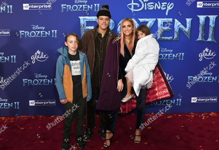 Evan Ross, Ashlee Simpson and family