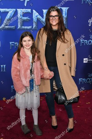 Stock Image of Tiffani Thiessen with daughter Harper Smith