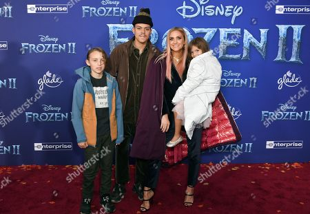 Bronx Wentz, Evan Ross, Ashlee Simpson and Jagger Snow Ross