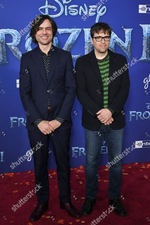 Brian Bell and Rivers Cuomo of Weezer