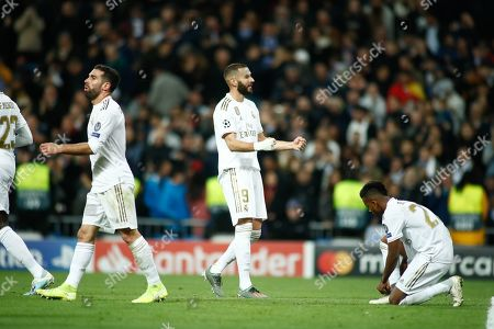 Karim Benzema of Real Madrid celebrates a goal