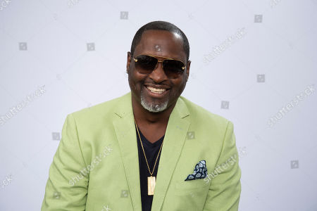 This portrait shows Johnny Gill, in Los Angeles