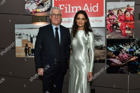 Stock Image of David Linde and Katie Holmes