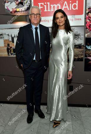 David Linde and Katie Holmes
