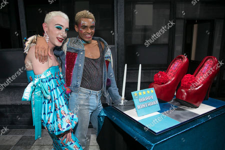Jamie Campbell and Layton Williams (Jamie) backstage